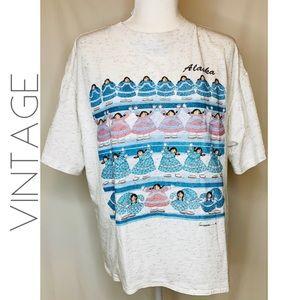 3/$50 Vintage Alaska dancing women tee T-shirt XL